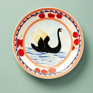 Anthropologie Susan Hall Calli Dessert swan plate